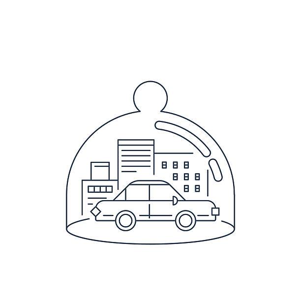 auto-versicherung-konzept - korrekturlesen stock-grafiken, -clipart, -cartoons und -symbole