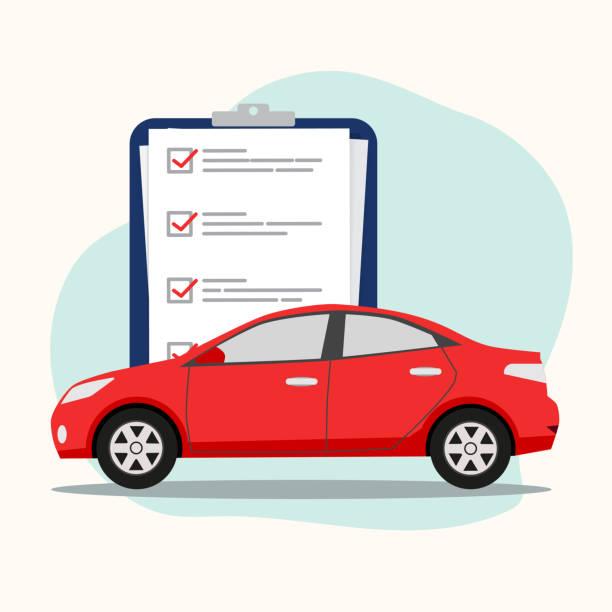 Car insurance concept, vector illustration vector art illustration