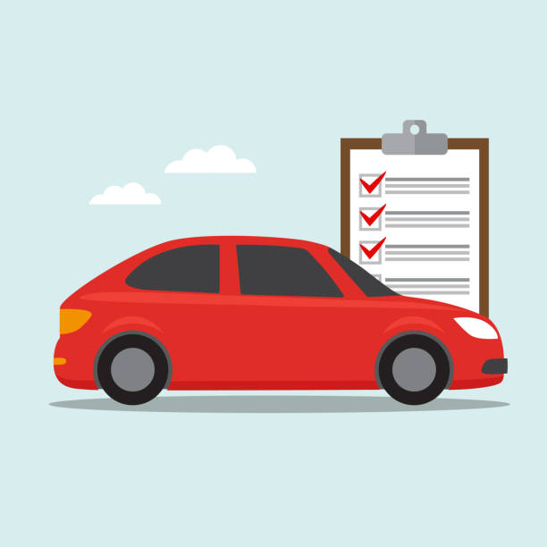 illustrazioni stock, clip art, cartoni animati e icone di tendenza di car insurance icon - car