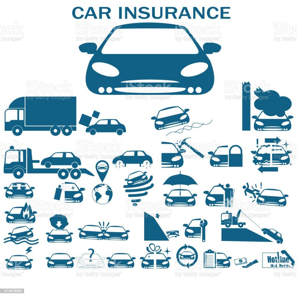 Car insurance vector art illustration