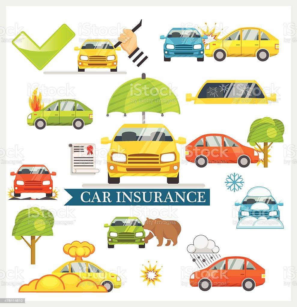 Car Insurance vector illustration vector art illustration