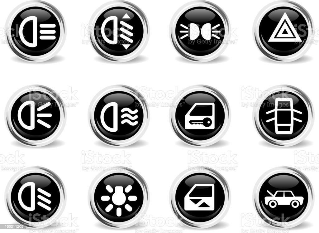 car interface sign royalty-free stock vector art