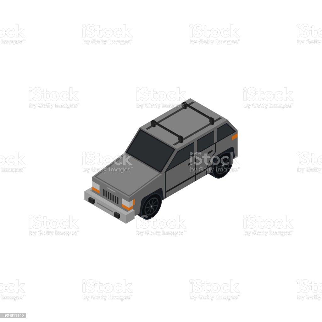 SUV 車等距3D 元 - 免版稅Low-Poly-Modelling圖庫向量圖形