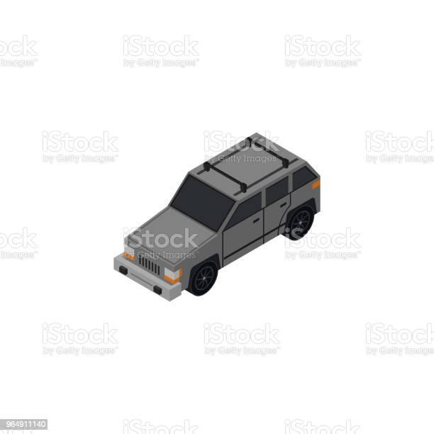 Suv 車等距3d 元向量圖形及更多Low-Poly-Modelling圖片