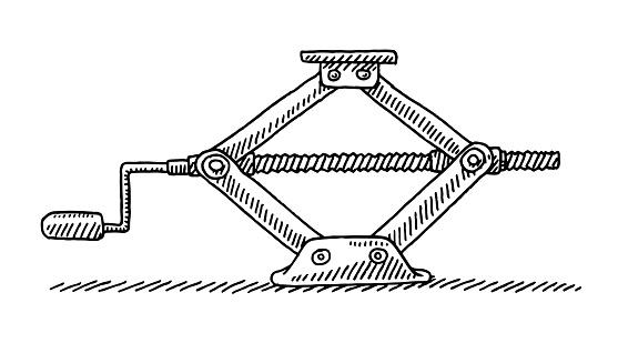 Car Jack Tool Drawing