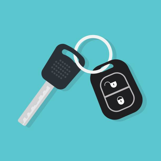 Royalty Free Car Key Chain Clip Art, Vector Images ...