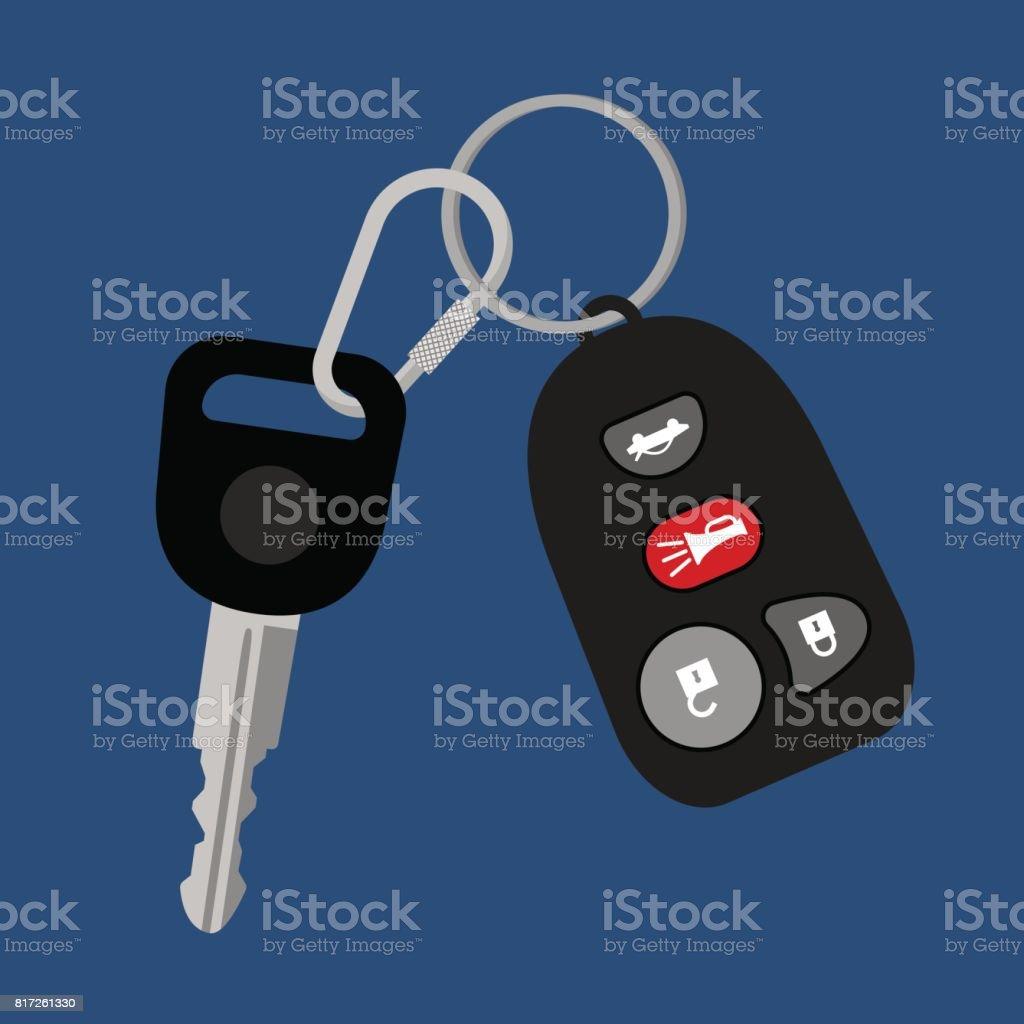 Fahrzeugschlüssel Mit Auto Zugang Vorhängeschloss Stock Vektor Art ...