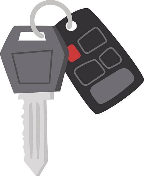 Vector Key Illustration: Royalty Free Car Key Chain Clip Art, Vector Images