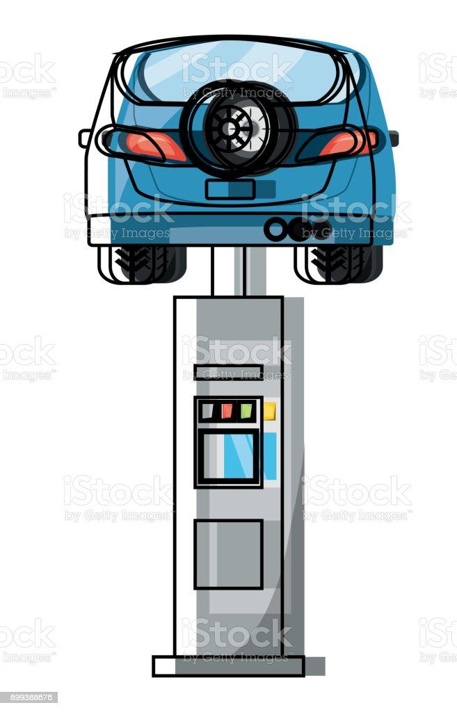 Car Lift Machine Icon Stock Illustration - Download Image