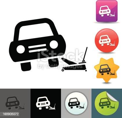 istock Car lifting icon | solicosi series 165905072