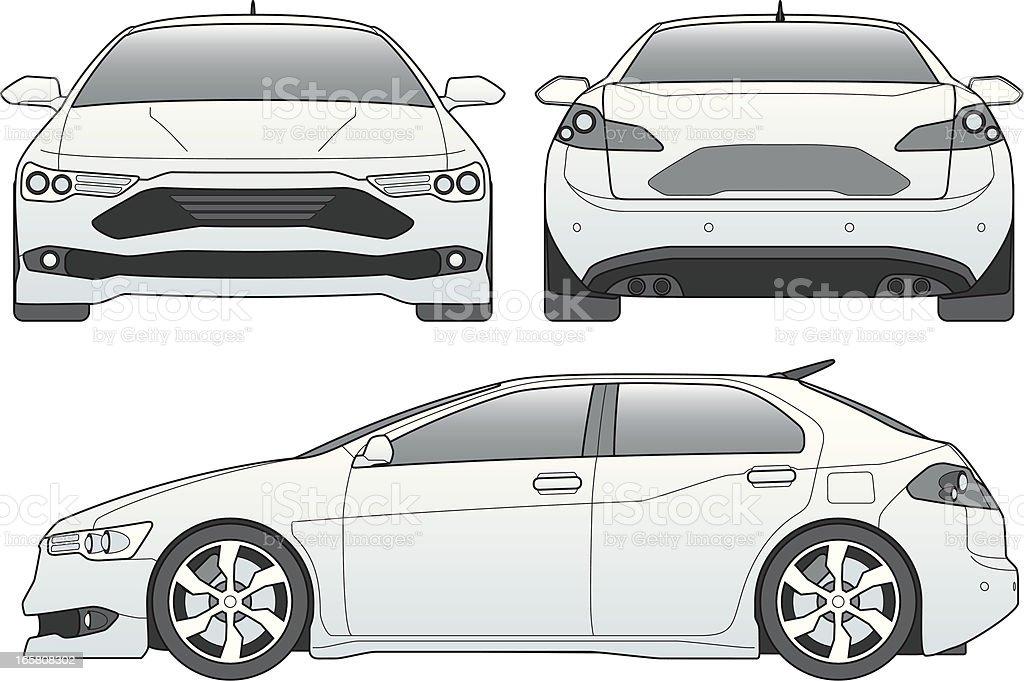 car line art royalty-free stock vector art