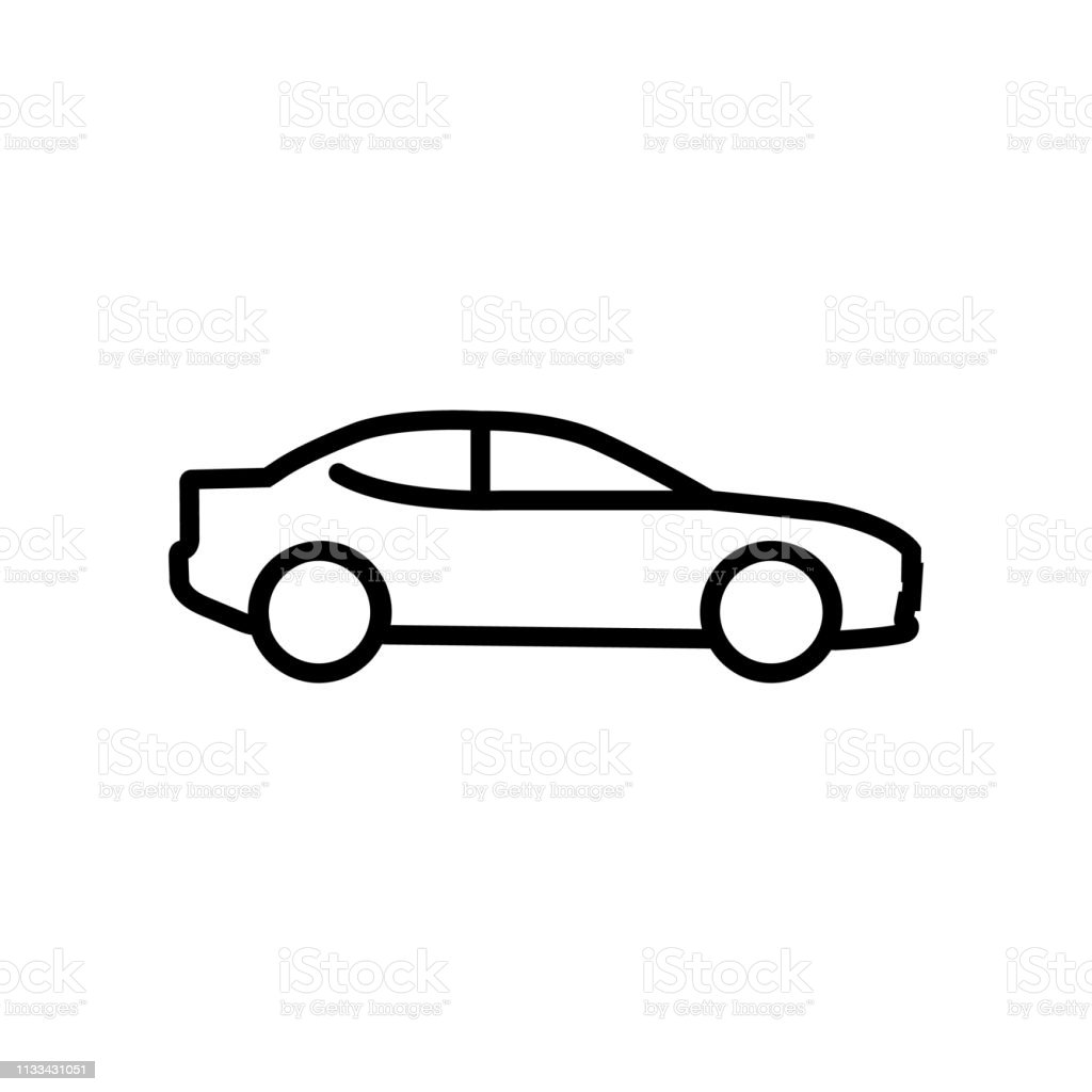 Car line icon isolated on white background Car line icon isolated on white background Art stock vector