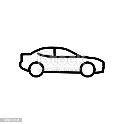 Car line icon isolated on white background