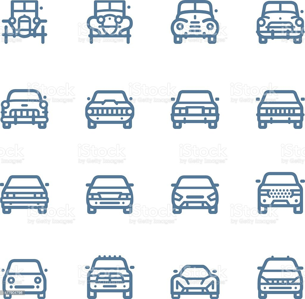 Car Line icons vector art illustration