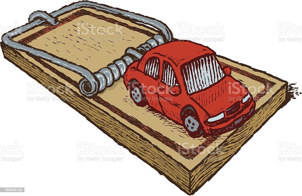 Car Loan  - Trap royalty-free stock vector art