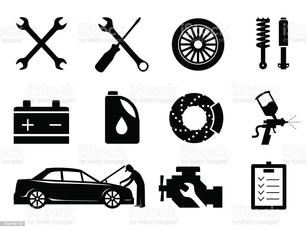 Instandhaltung Und Reparatur Symbolset Vektor Stock Vektor Art und ...