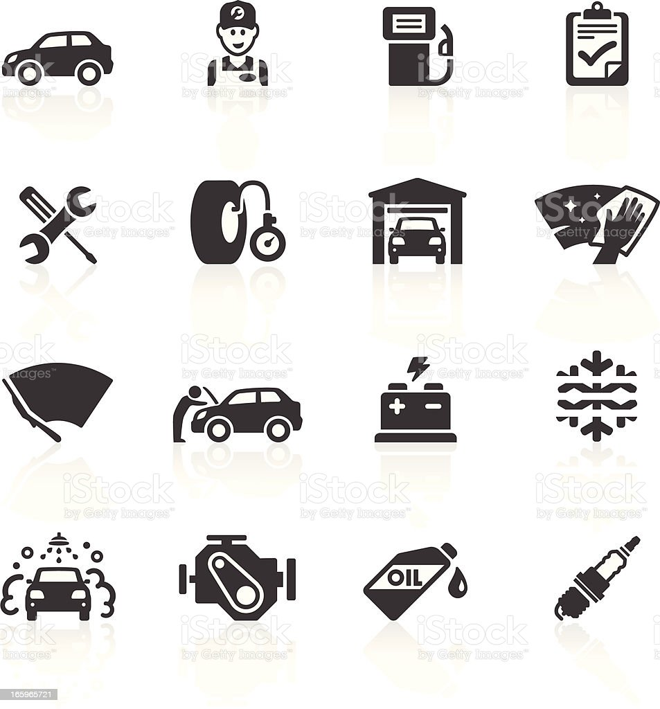 Car Maintenance & Care Icons vector art illustration