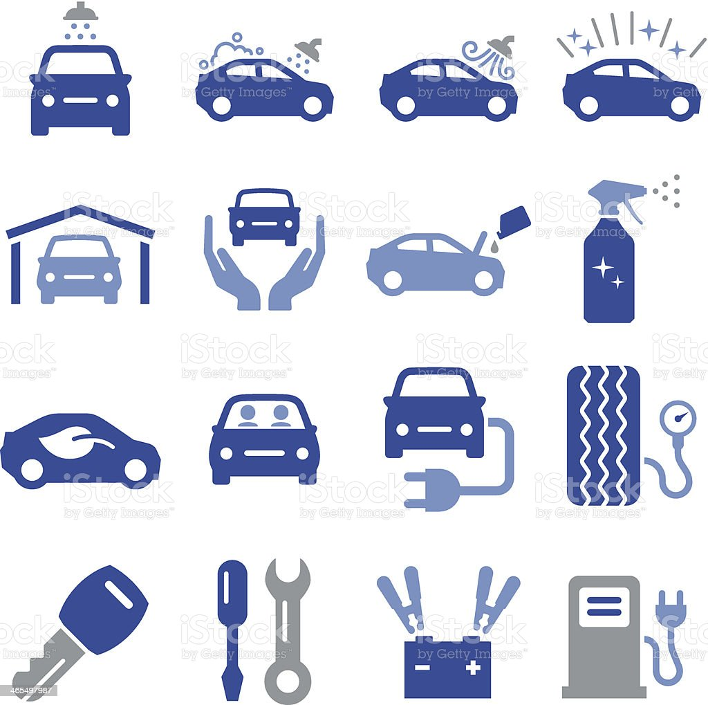 Car Maintenance Icons - Pro Series royalty-free car maintenance icons pro series stock vector art & more images of auto repair shop