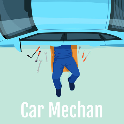 Car mechanic social media post mockup