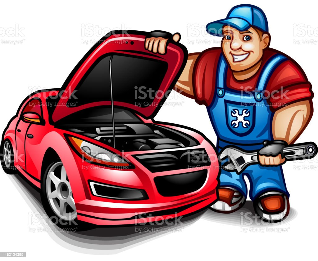 Car mechanic royalty-free car mechanic stock vector art & more images of adjustable wrench
