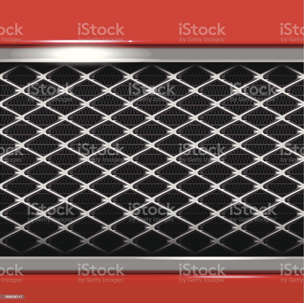 Car Metallic Grille royalty-free stock vector art