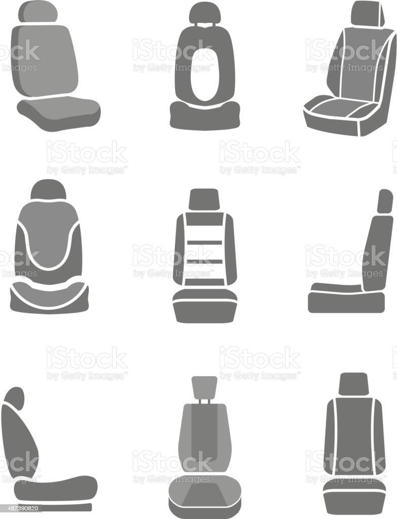 Car mirror icons vector art illustration