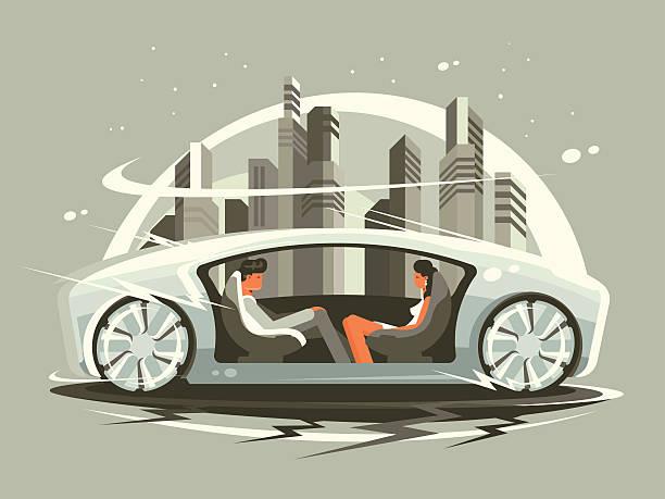 car of future - 獨立 幅插畫檔、美工圖案、卡通及圖標