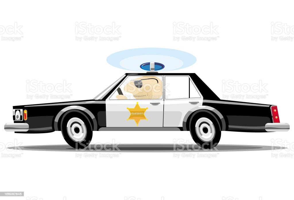 Car of the sheriff royalty-free car of the sheriff stock vector art & more images of car