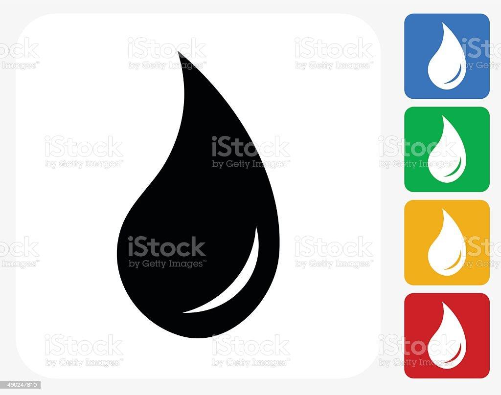 Aceite de iconos planos de diseño gráfico - ilustración de arte vectorial