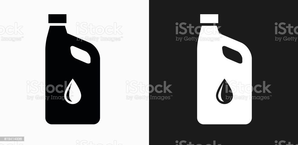 Icono de aceite del coche en blanco y negro Vector fondos - ilustración de arte vectorial