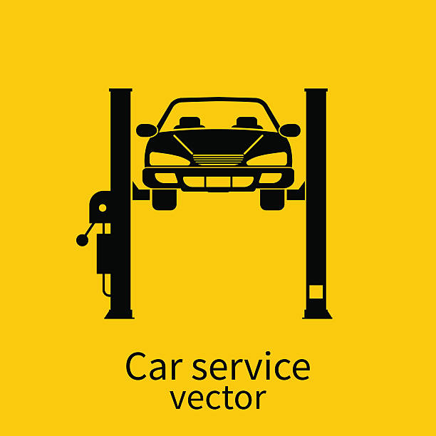 Best Car Lift Illustrations Royalty Free Vector Graphics