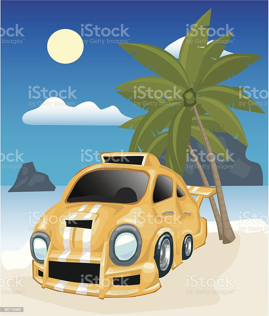 Car on the beach royalty-free car on the beach stock vector art & more images of beach
