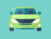 SUV vehicle car front view modern flat design illustration.
