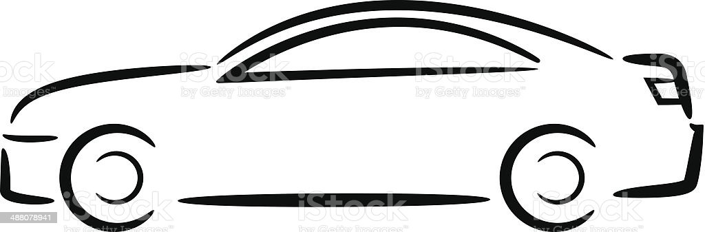 royalty free car outlines drawing clip art vector images rh istockphoto com car outline clip art free race car outline clip art