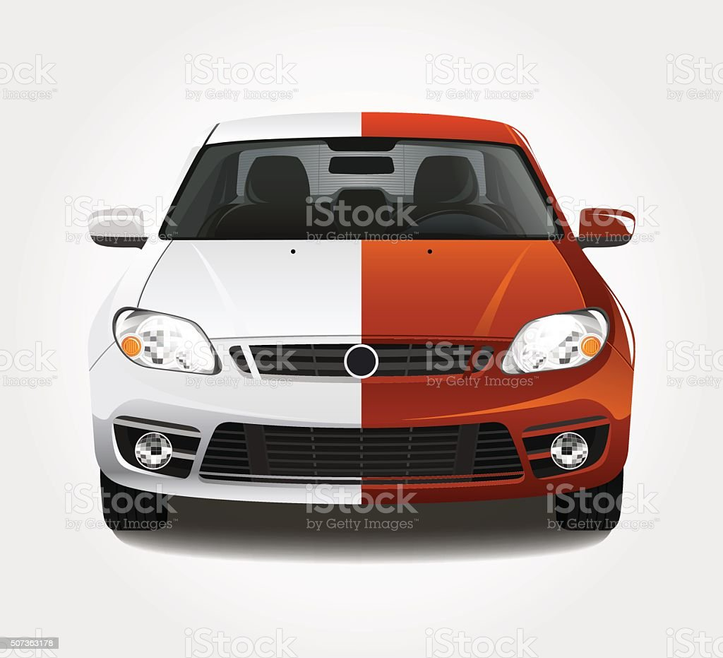 Car paint illustration vector art illustration