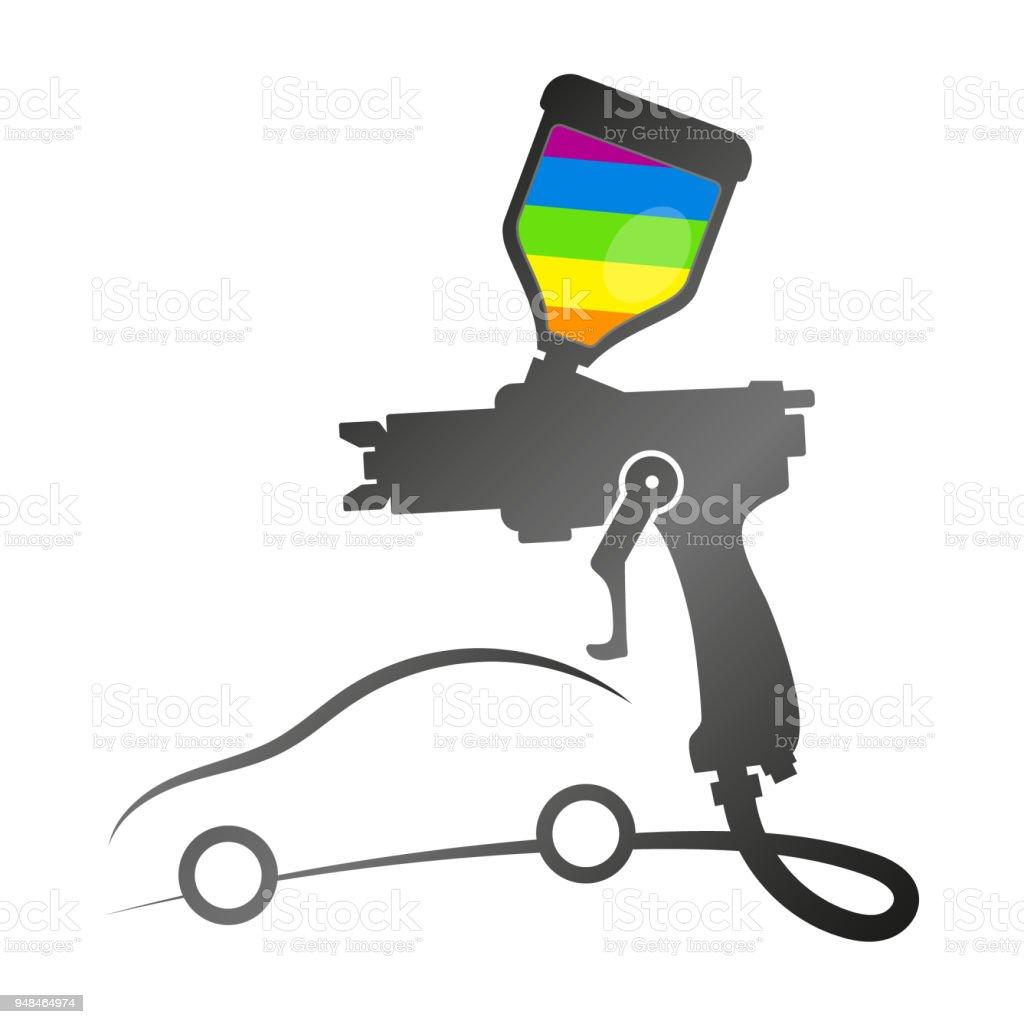 Ilustración de Pintura De Coche Con Spray y más Vectores ...