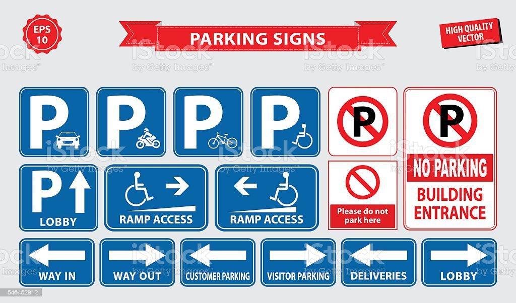 Auto Parkplatz Schild Stock Vektor Art und mehr Bilder von ...