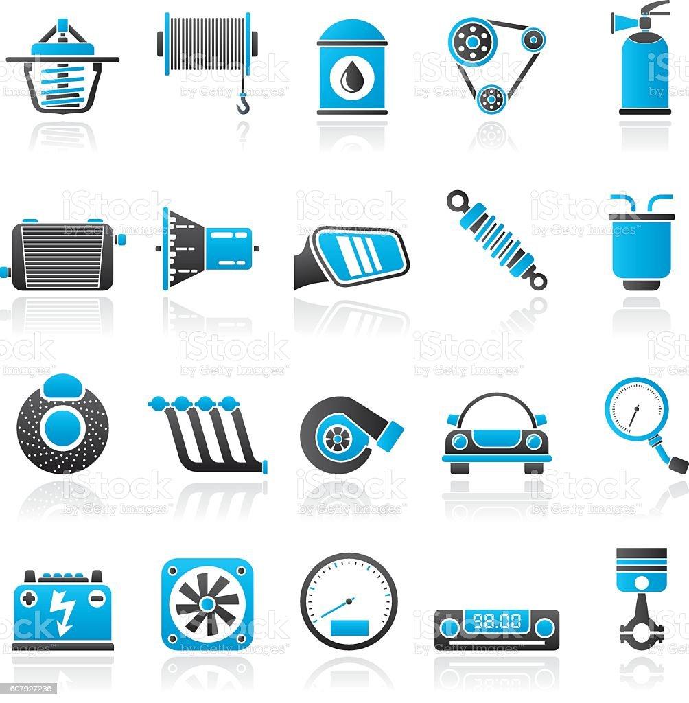 Car part and services icons 2 – Vektorgrafik