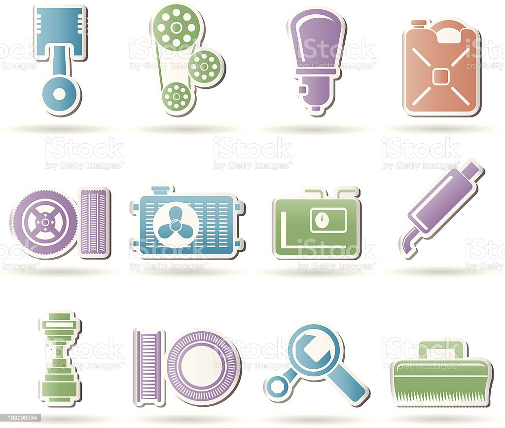 Car Parts and services royalty-free stock vector art