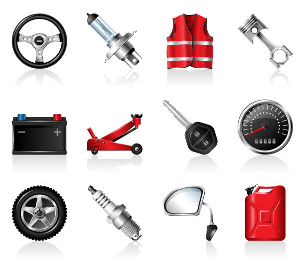Auto Parts Icon-Set – Vektorgrafik