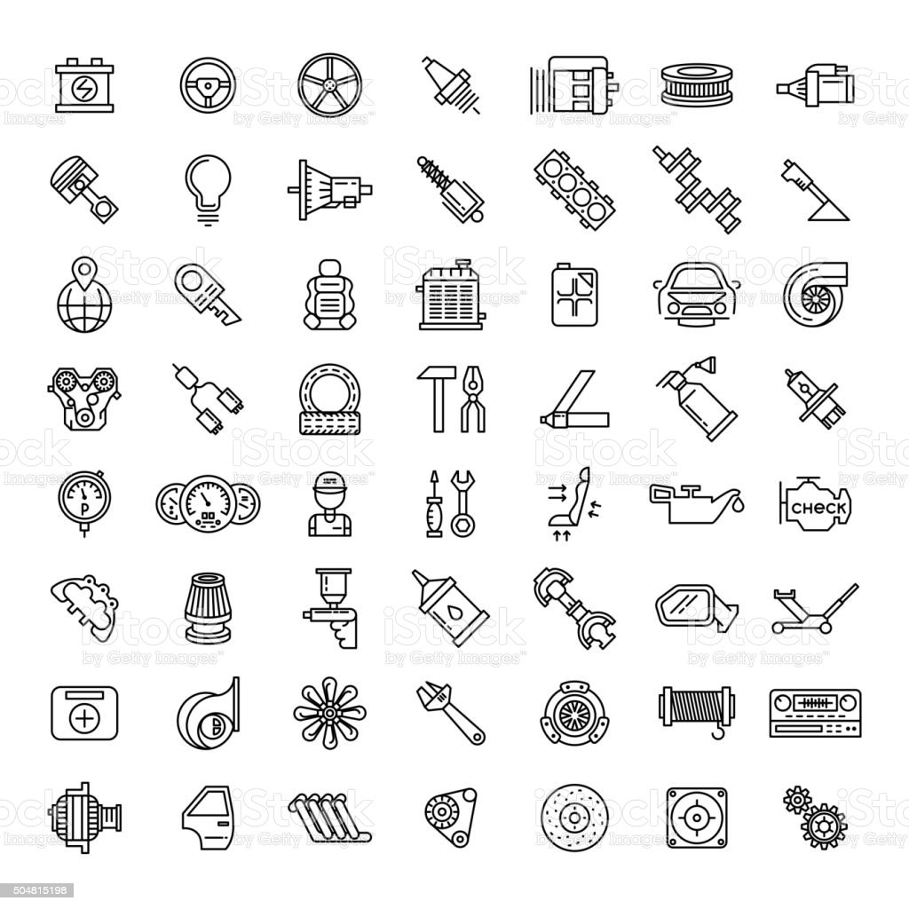 Vector Cars And Auto Parts, Vector Diagram, Car, Car Parts PNG Transparent  Clipart Image and PSD File for Free Download