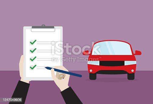 istock A car passes a check 1247049926