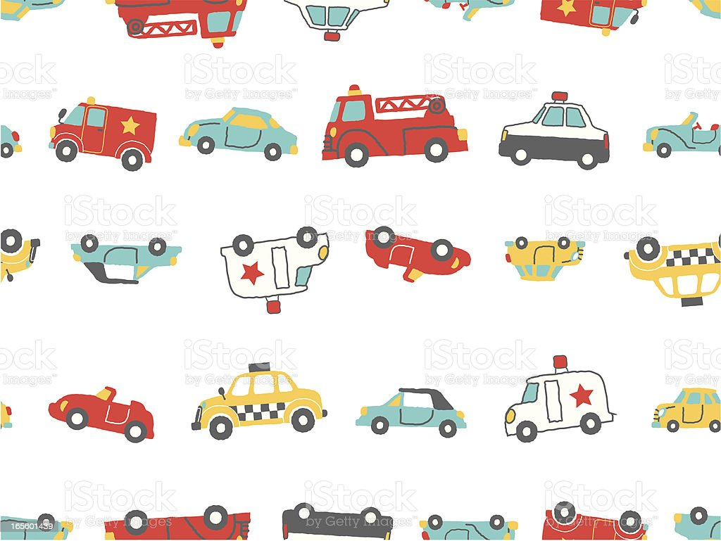 car pattern vector art illustration