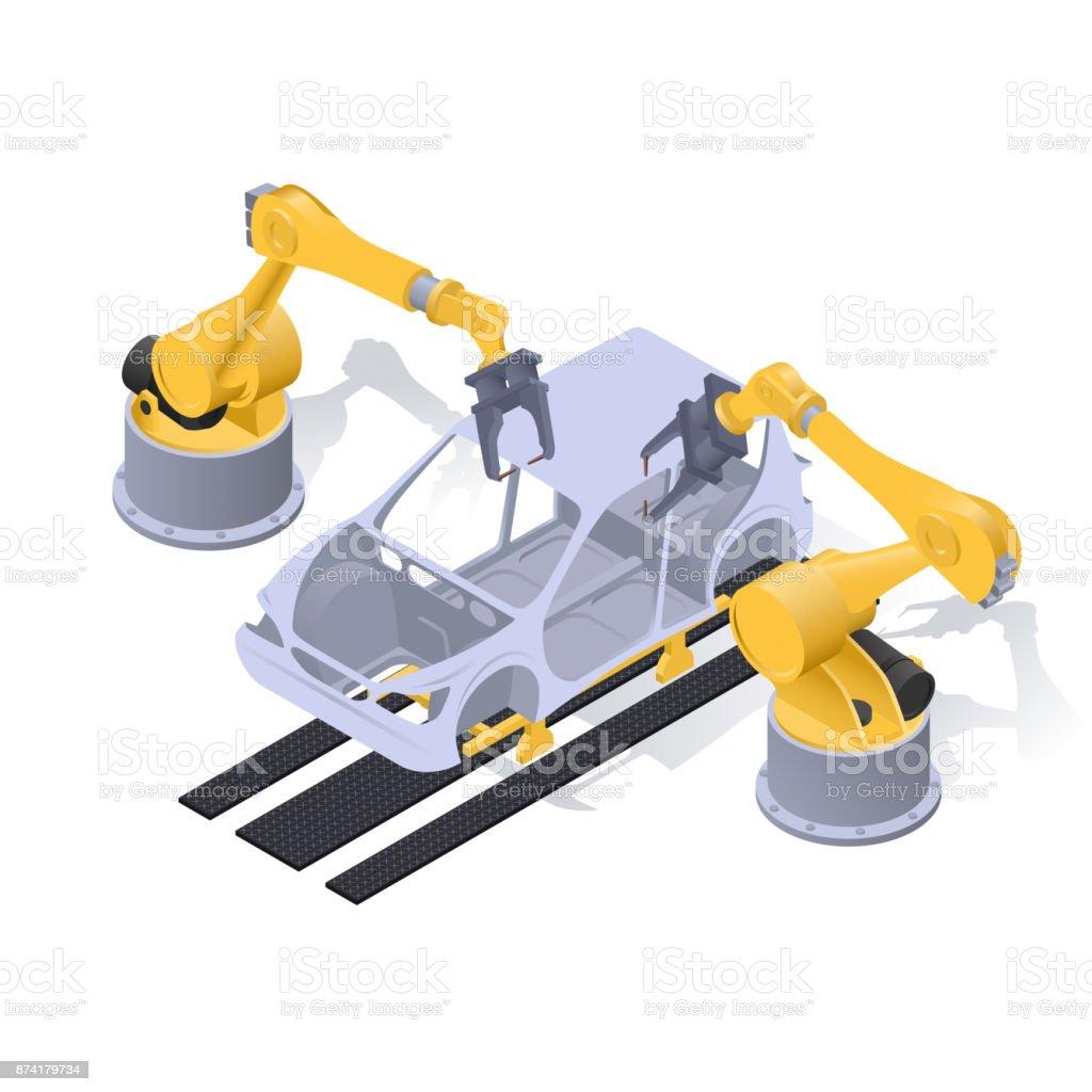 car production forming2 vector art illustration