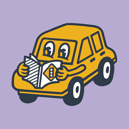 Car Reading a Book