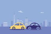 Car Accident,Crash, Traffic Accident, Arguing, Insurance Agent,Insurance