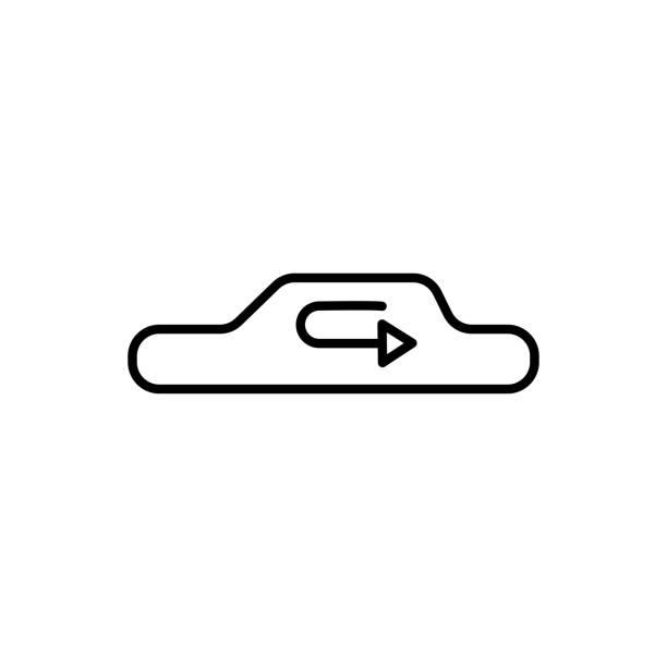 car recirculation icon vector art illustration