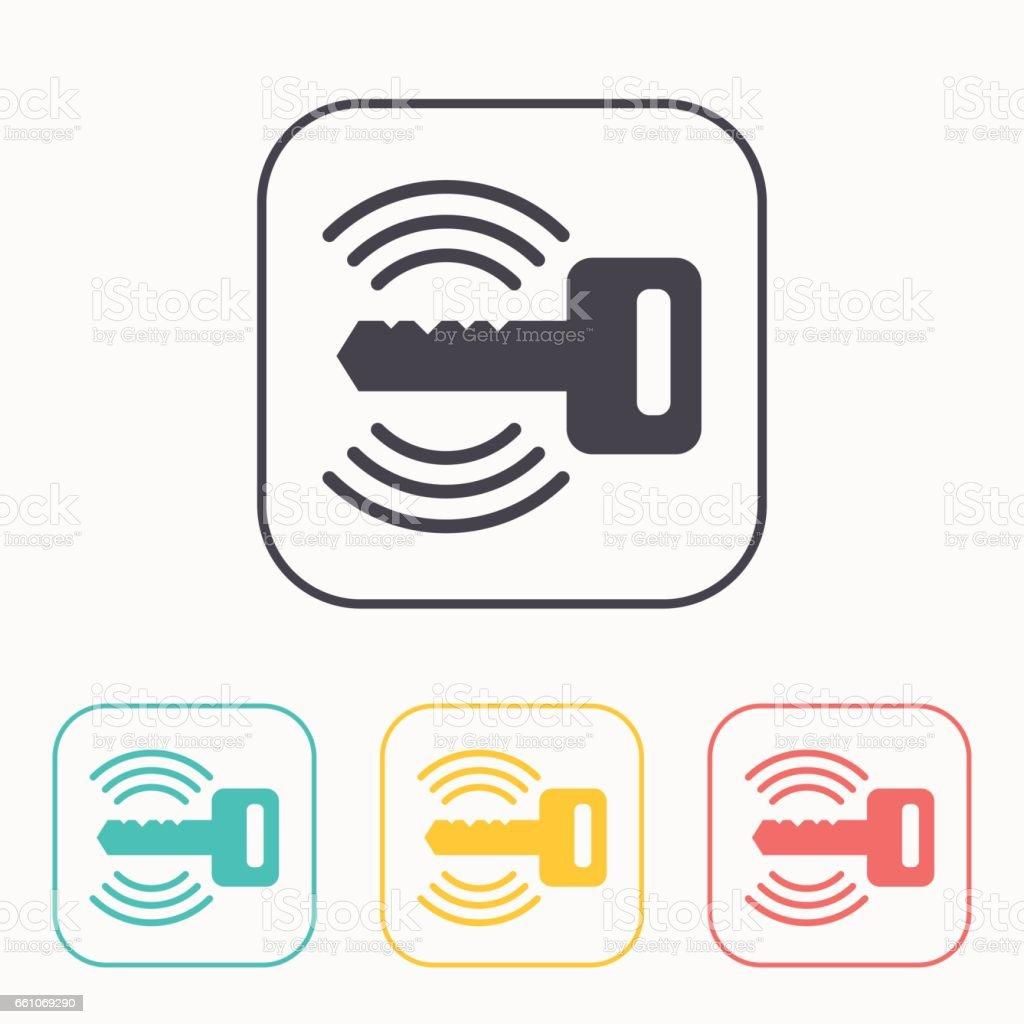 car remote key symbol vector hmi dashboard flat icon stock