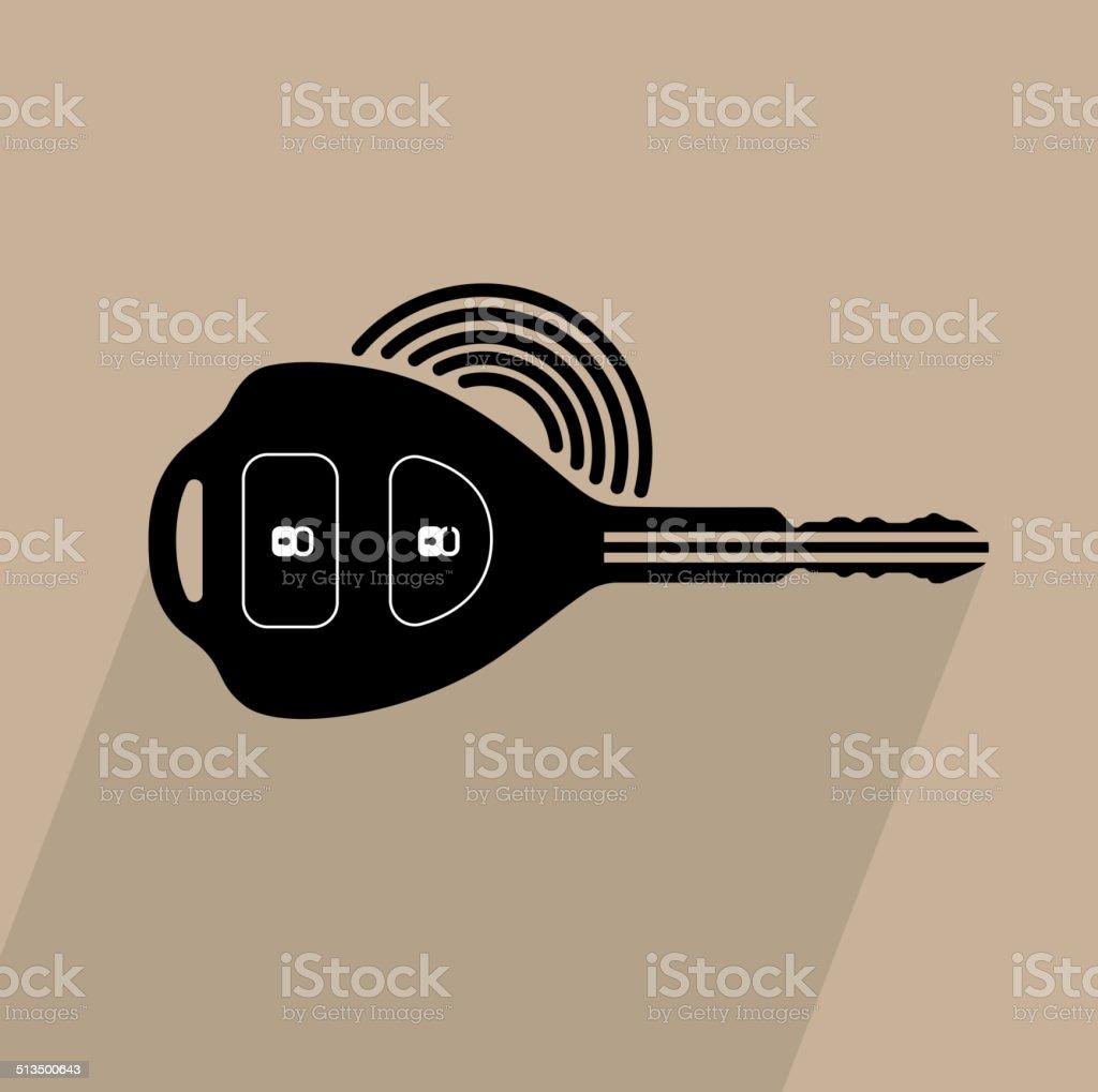 Car remote key symbol vector art illustration