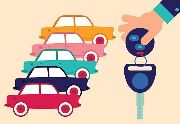 car rental - caravan stock illustrations